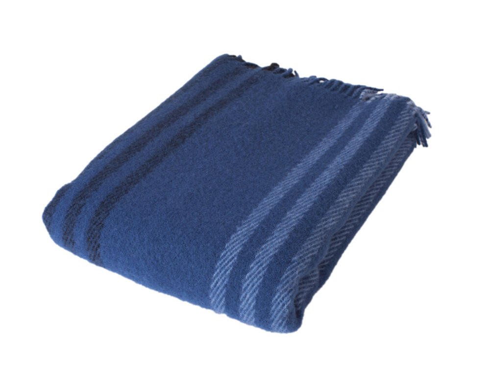 Stripe - Royal Blue 100 % uld Sengekompagniet