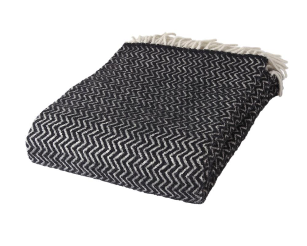 ZigZag - Black/White 100 % Uld Sengekompagniet