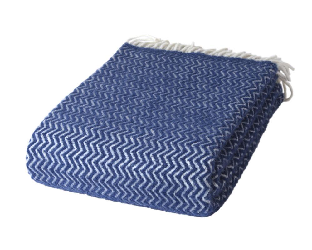 ZigZag - Royal Blue 100 % Uld Sengekompagniet